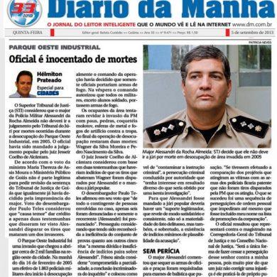 Foto de Oficial da PMGO é inocentado de mortes