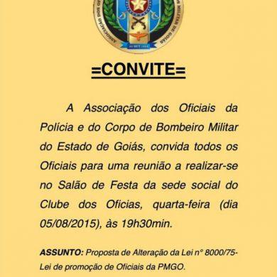 Foto de ASSOF CONVIDA TODOS OFICIAIS PARA REUNIÃO NO SALÃO DE FESTAS AS 19H30.
