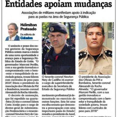 Foto de ASSOCIAÇÕES DE MILITARES MANIFESTAM APOIO À INDICAÇÃO PARA AS PASTAS NA ÁREA DE SEGURANÇA PÚBLICA